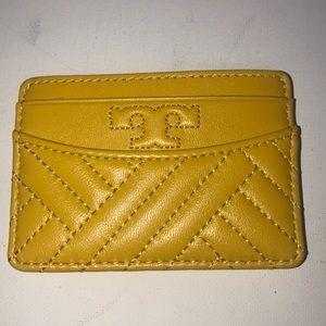 Tory Burch Bags - NWT Tory Burch Yellow Slim Card